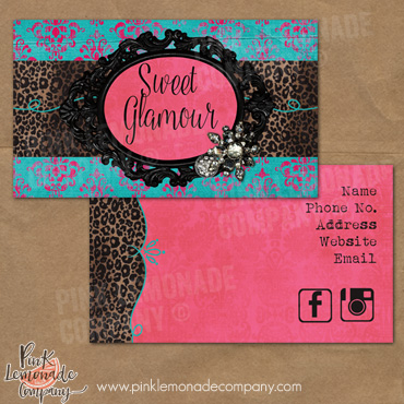 Sweet glamour business cards business card sweet glamour design colourmoves